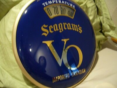 Seagrams VO Temperature Sign Thermometer Advertising Scale Thermometer
