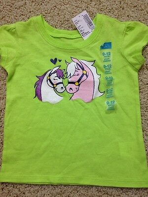 NWT Girls Sz 9-12 Months The Children's Place Horse Pony themed Top Free US Ship
