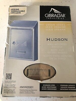 *brand New* Gibralter Stainless Steel Vertical Locking Wall-Mount Mailbox