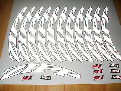 Reflective Zipp 404 2013 Decal Set For Two Wheel
