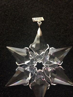 Swarovski 2000 Crystal Christmas Star Snowflake Ornament No Box