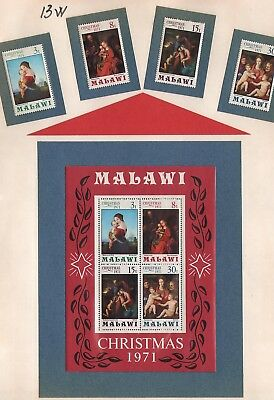 Malawi  Lot Of  Old Stamps #13W Christmas   Mnh  K