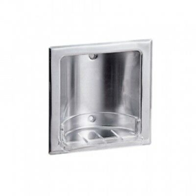 New Metlam Ml232s Soap Dish Recessed - Silver 159Mmw X 159Mmh X 45Mmd