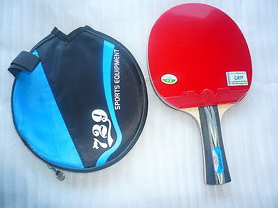 RITC729 Pips-in Table Tennis Bat/Paddle with Case: RITC2040, Melbourne