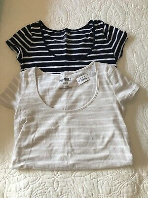 Lot Of 2 Old Navy Maternity T-shirts XS, One NWT