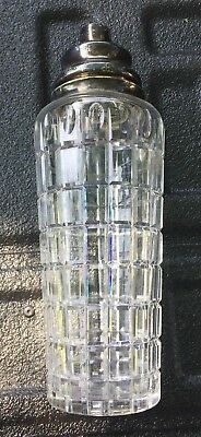 Vintage Hawkes Cut Glass Sterling Silver Decanter