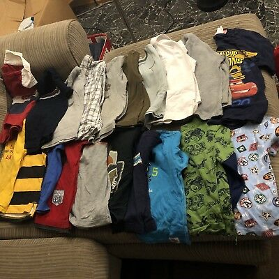 Lot Of 20 Boys shirts Clothes Size 4T