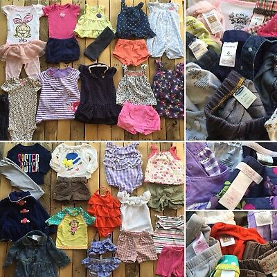 Lot 30 + pcs Mixed Baby Girl Clothes Carters Gerber Onesies 6 6/9 9 12 months