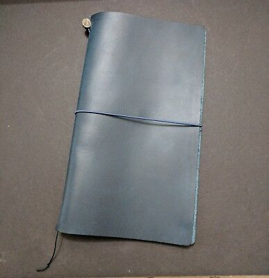 Midori Travelers Notebook Leather Cover Used Good Condition 2015 Blue Edition