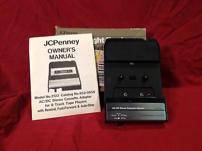 Ac/dc Eight Track Stereo Cassette Adapter