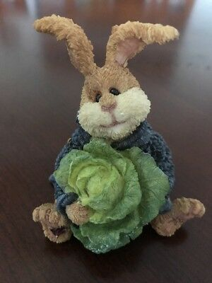 Boyds Bears Critter & Co Peter P Thumperton Cabbage King Rabbit Bunny Figurine