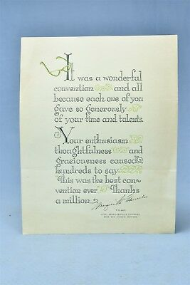 Vintage ADVERTISING PG&E POEM PRINT SIGNED AHEA 45TH ANNUAL MEETING OLD #05471