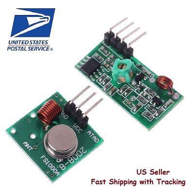 433Mhz RF Transmitter and Receiver Module link kit for Arduino - US seller, Fast