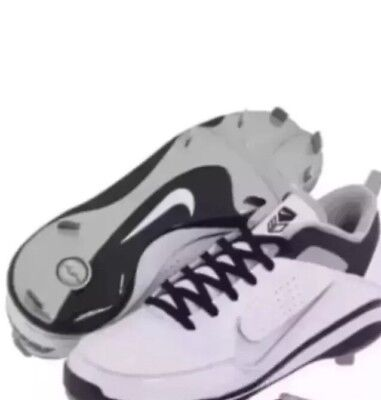 Nike Air Show Elite 2 Men Baseball Shoes size 16 D Med White Sneakers Cleats 018707bd8
