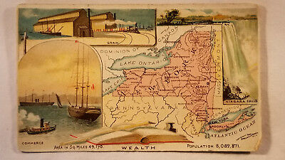 Arbuckles Coffee Card 1892 United States Map New York