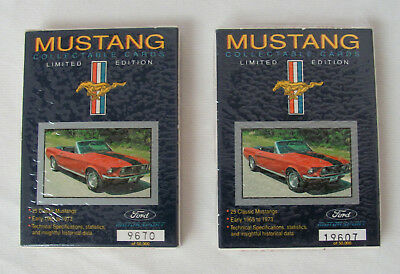 (2) Sets 1992 Ford Motorsport Mustang Limited Edition Collector Cards Unused