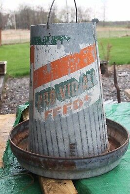 Vintage Poultry Feeder Advertising Pro-vid-all feeds