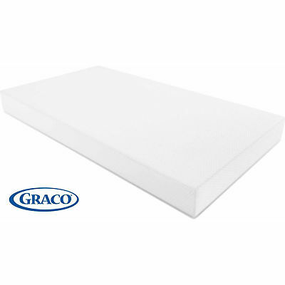 Graco Premium Foam Crib and Toddler Bed Mattress Standard and Full Sized - White