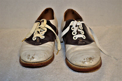 Womens Vintage Saddle Shoes Size 6