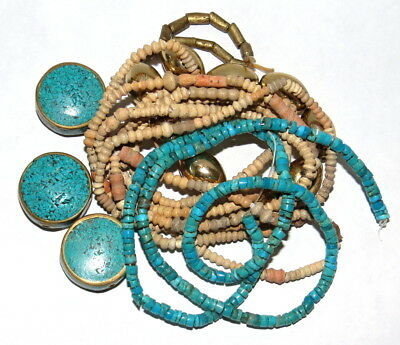 Nepal Turquoise Beads, D'jenne Antique Beads, Turquoise Strands JEWELRY KIT