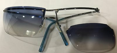9e633caf2243d Authentic GUCCI Sunglasses GG 2653 S L7EBB Silver Frame Blue Lenses BROKEN  Lens