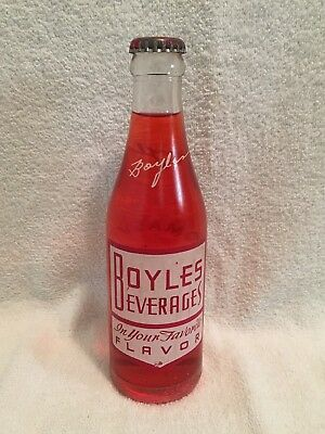FULL 6 1/2oz BOYLES STRAWBERRY ACL SODA BOTTLE THOMASVILLE COCA-COLA BOTTLING CO