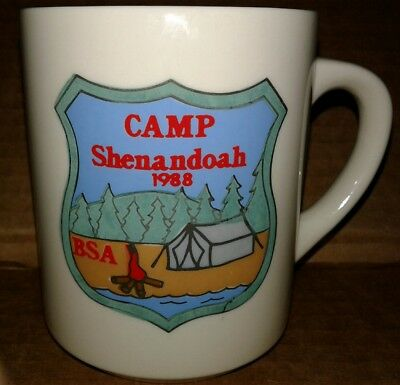 1988 The Boy Scouts Of America B.S.A. Camp Shenandoah Ceramic Coffee Mug