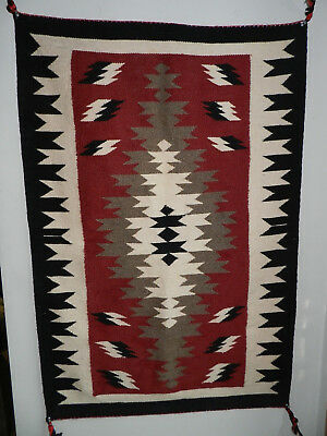 Beautiful Vintage Red Crystal Navajo Rug, From Estate, No Reserve!