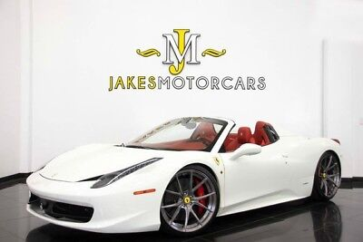 2013 Ferrari 458 Spider**($327K MSRP! + $35,000 IN UPGRADES)** 2013 FERRARI 458 SPIDER, ONE-OF-A-KIND! WHITE ON RED, ONLY 6700 MILES, LOADED!