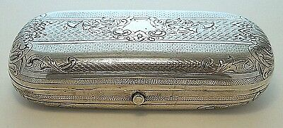 1873 Russian Silver Engraved Large Cigarette/cigar Case/clutch-No Mono-Savinsky