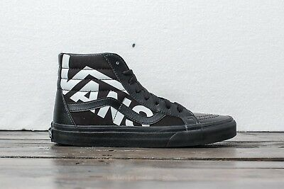 Vans Sk8 Hi Reissue Vans Black True White Mens Size 8 New In Box Skate Shoe 11a923e8c