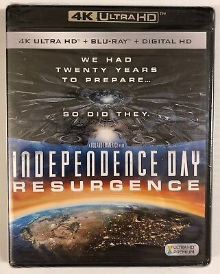New Independence Day Resurgence 4K Ultra Hd Blu Ray Digital Hd 2 Disc Set Buy It