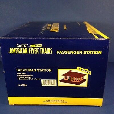 Lionel American Flyer Trains SUBURBAN STATION S Gauge 6-47980 NEW IN BOX
