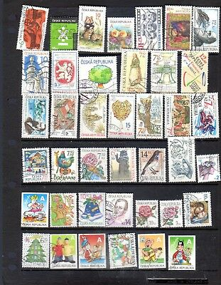 40 all different used stamps from Czech Republic