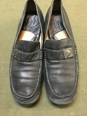 Born Black Italian Leather Casual Loafer Slip On Dress Shoes Mens 12