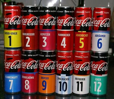 Coca-Cola cans from AUSTRIA - World Cup 2018 and 1 special carrier