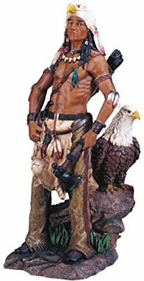 StealStreet Native American Warrior with Eagle Collectible Indian Figurine Sculp