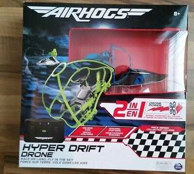 Brand New Air Hogs Hyper Drift Drone 2 IN 1