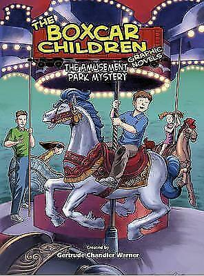 The Amusement Park Mystery (Boxcar Children Graphic Novels)-ExLibrary