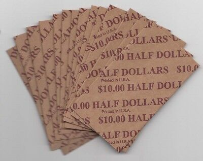 Heavy Duty Flat Coin Wrappers Half Dollar $ Size Bulk Box of 1000 Pop Out Kraft