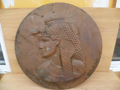 Very Large Size Copper Art 'egypt Scene' Wall Hanging Plaque (G476)