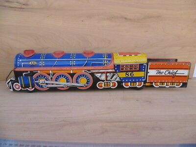 Vintage Old Very Large Size Tin Toy Train, Old Toy Train (G923)