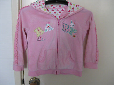 Super Cute George Pink Toddler Girl hoodie Body Basic Jacket Coat 18-24 months