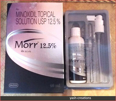 2 Pack- Morr 12.5% MINOXIDIL TOPICAL SOLUTION HAIR REGROWTH TREATMENT FOR MEN.