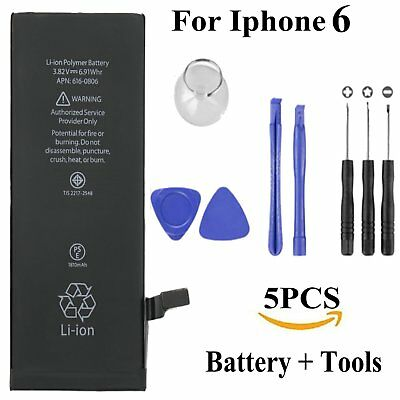 5X OEM Apple Genuine Internal Battery Replacement for iPhone 6 1810mah + Tool