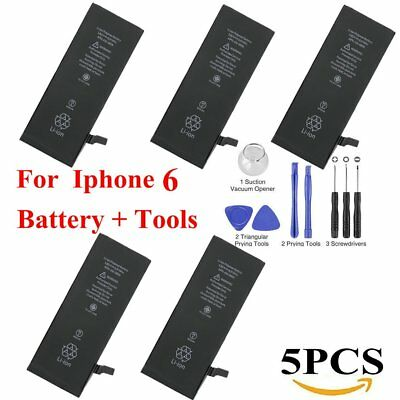 5X OEM Genuine Replacement Internal Battery For Apple iPhone 6 1810mAh + Tools