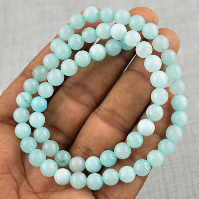 110.00 Cts / 14 Inches Natural Untreated Drilled Blue Chalcedony Beads Strand