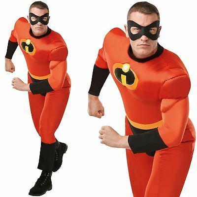 CA746 Mr Incredible 2 Deluxe Costume Mens Disney Superhero Fancy Dress Up Outfit