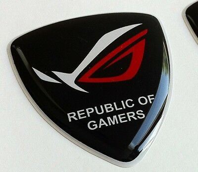 ASUS Republic of Gamers ROG 3D domed sticker badge 40mm x 35mm [H196].