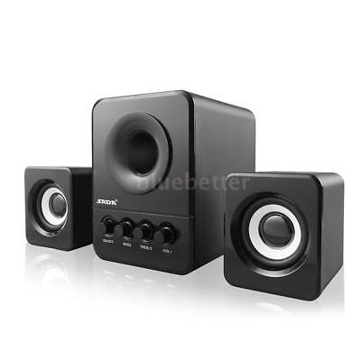 SADA USB 2.1 Wired Combination Speaker Bass Player Subwoofer For Laptop PC Z9O6
